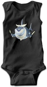 PanDo Infants Boy's & Girl's Shark Short Sleeve Bodysuit Baby Onesie For 0-24 Months Black 6 M