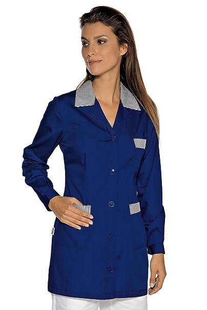 Isacco-túnica médica Marbella, Color Azul, diseño de Rayas, Color Azul Azul