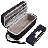 Hard Case Travel Bag and Soft Silicone Cover for Bose SoundLink Mini/Mini 2 Bluetooth Speaker with Mesh Pocket for Accessories, Black (Color: black, Tamaño: Hard Case Fits Bose soundlink)