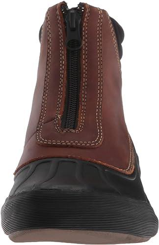 Filles Junior Clarks Cherry BEA Enfiler Hiver Chaud Bottine Chaussons en tricot taille