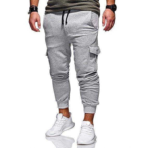Pantalones De Hombre,ZARLLE Moda Casual Chandal Aptitud ...