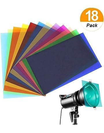 96af676f931c24 Sakolla 18 Pieces Colored Overlays Light Gels Transparency Color Film  Plastic Sheets Correction Gel Light Filter