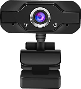 1080P Webcam with Microphone,USB HD Webcam Computer Camera,Plug and Play,for Zoom Meeting YouTube Skype Face Time Online Class, Compatible with Mac OS Windows Laptop Desktop Computers Monitors