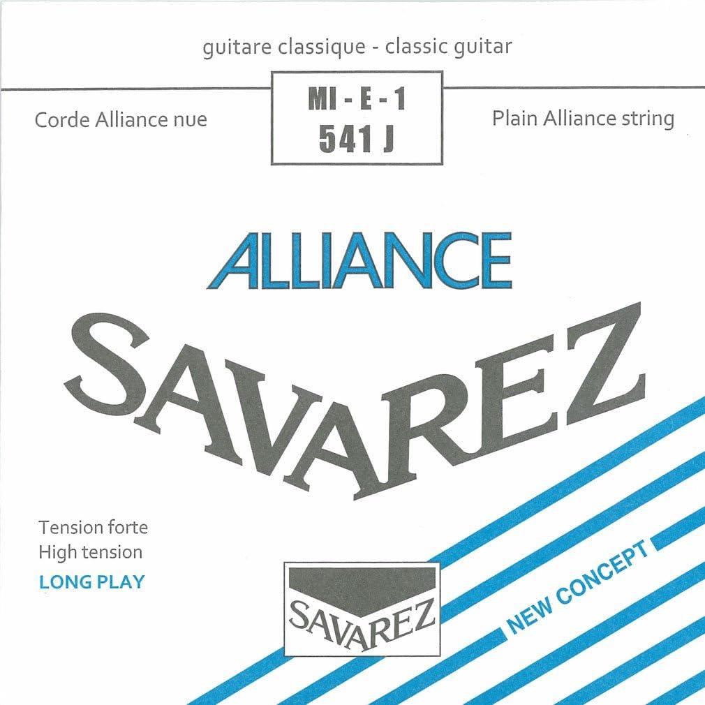 Savarez Cuerdas para Guitarra Clásica Alliance HT Classic 541J cuerda suelta Mi1 Carbon high, adecuado para juego 540J, 500AJ, 510AJ
