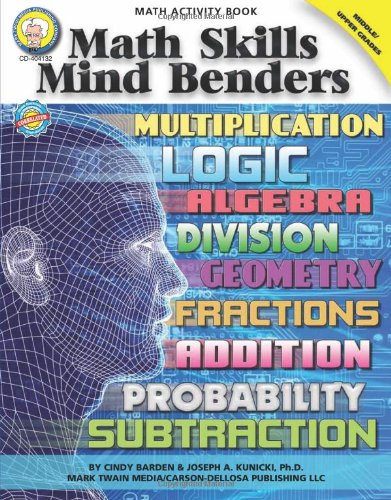 Download Math Skills Mind Benders, Grades 6 - 12 pdf