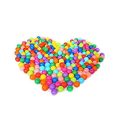 Soft Plastic Mini Play Balls,Use in Baby Toddler Ball Pit for Play Tents Tunnels Indoor and Outdoor 20/50/100 PCS: Clothing