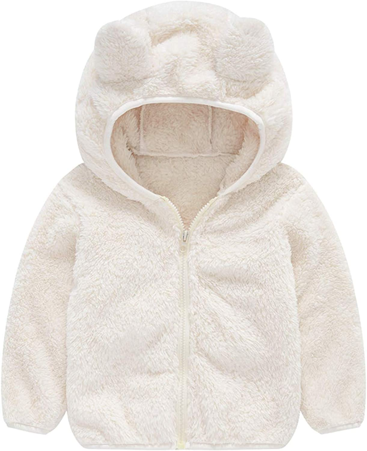 BOGIWELL Unisex Baby Girl Boy Autumn Winter Soft Furry Thick Bear Sweater Coat