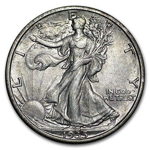 - 1935 S Walking Liberty Half Dollar XF Half Dollar Extremely Fine
