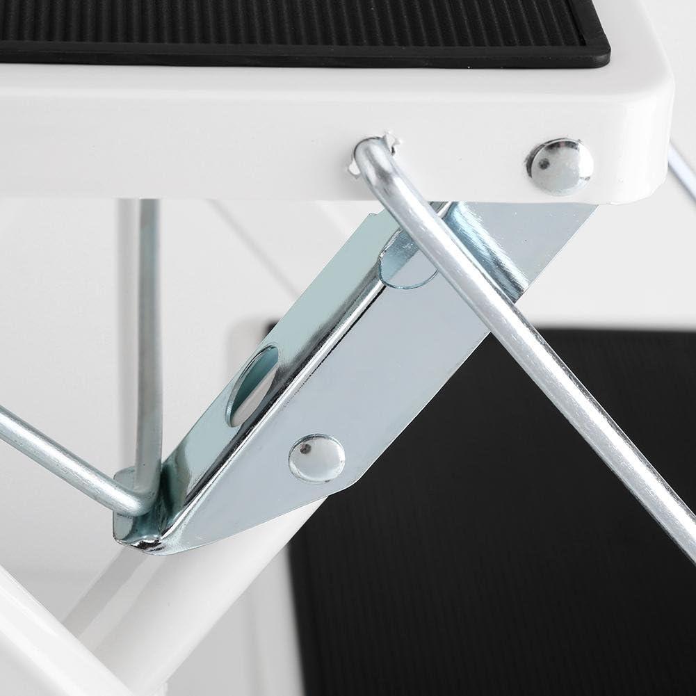 pp kunststoffplatte matte belastung 120 kg pro schicht 42 x 48 x 41,5 cm wei/ß Klappleiter,stahl klapptritt stahlrohr eisenplatte