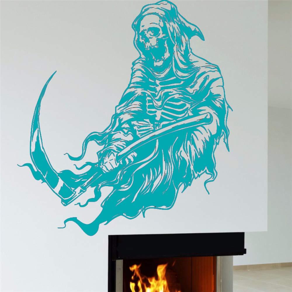 guijiumai Vinilo Tatuajes de Pared Grim Reaper Decoración del ...