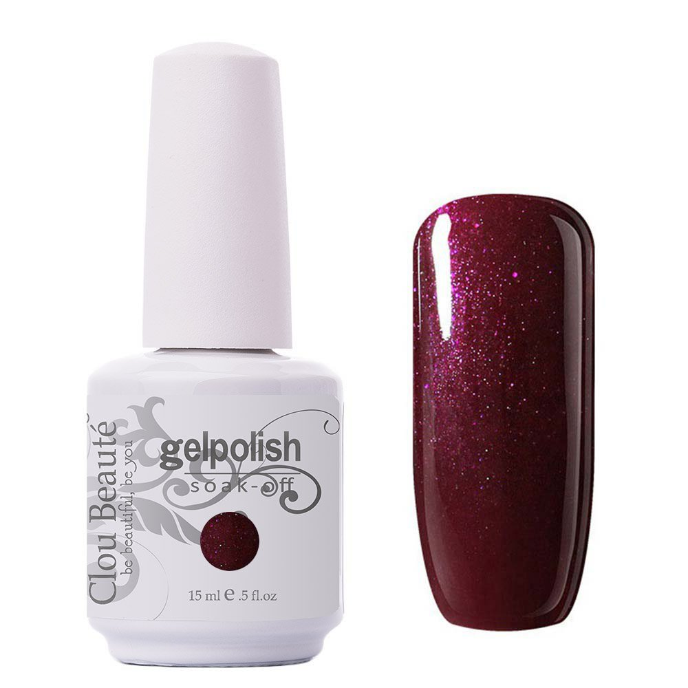 Clou Beaute Gelpolish 15ml Soak Off UV Led Gel Polish Lacquer Nail Art Manicure Varnish Color Burgundy 1445