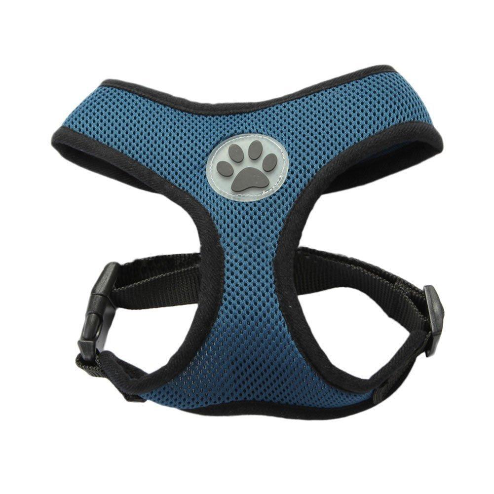 pettorina per cani La Vie imbracatura morbida regolabile pettorina imbottita in rete traspirante per cani di piccola e media taglia non si sfila
