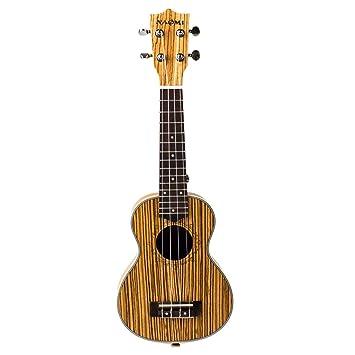Homyl 1 Pc 21 Pulgadas Ukelel 4 Cuerdas Guitarra Eléctrica de Zebrawood Excelente Obra de Mano: Amazon.es: Instrumentos musicales