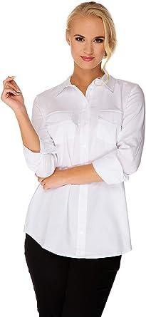 Camisa Premamá Lactancia Chloe Elegante Blanca S (Small ...