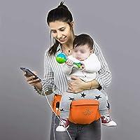My Valice Carry Bel Destekli Ana Kucağı Bebek Taşıyıcı Kanguru Turuncu