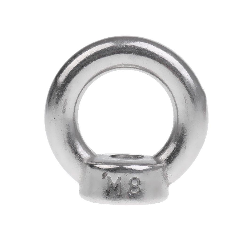 MagiDeal 304 Edelstahl Ringmuttern M6 M22 Ringmutter M20