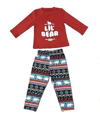 1cd53d54b1 LLXX Christmas Bear Family Matching Pyjama Set Dad, Mum, Kids Homewear  Outfit Pink: Amazon.co.uk: Clothing