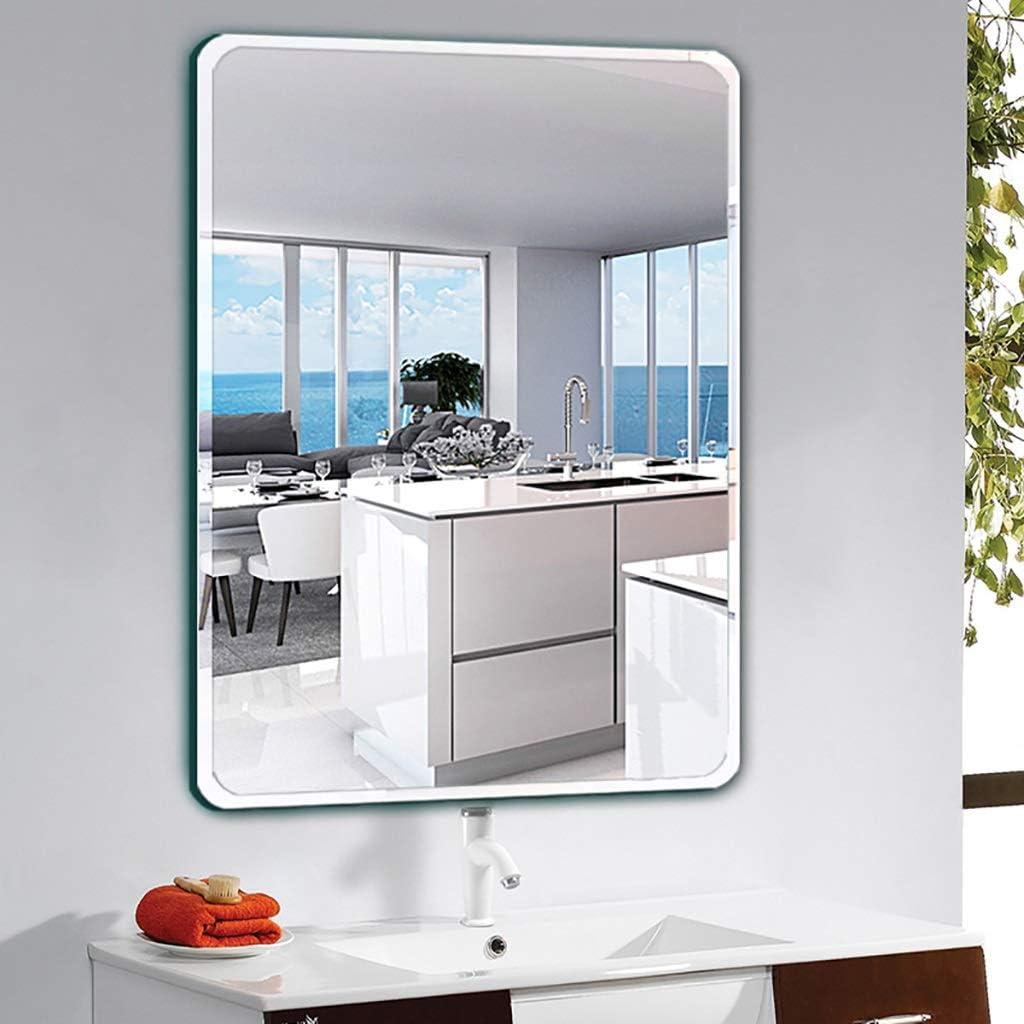 Size : 35 * 45cm Wall-mounted Bathroom Mirror Bathroom Wall Mirror,Bathroom Mirror Mordern Metal Framed Decorative Mirror For Bathroom Bedroom Makeup Mirror丨Vanity Mirror丨Shaving Mirror