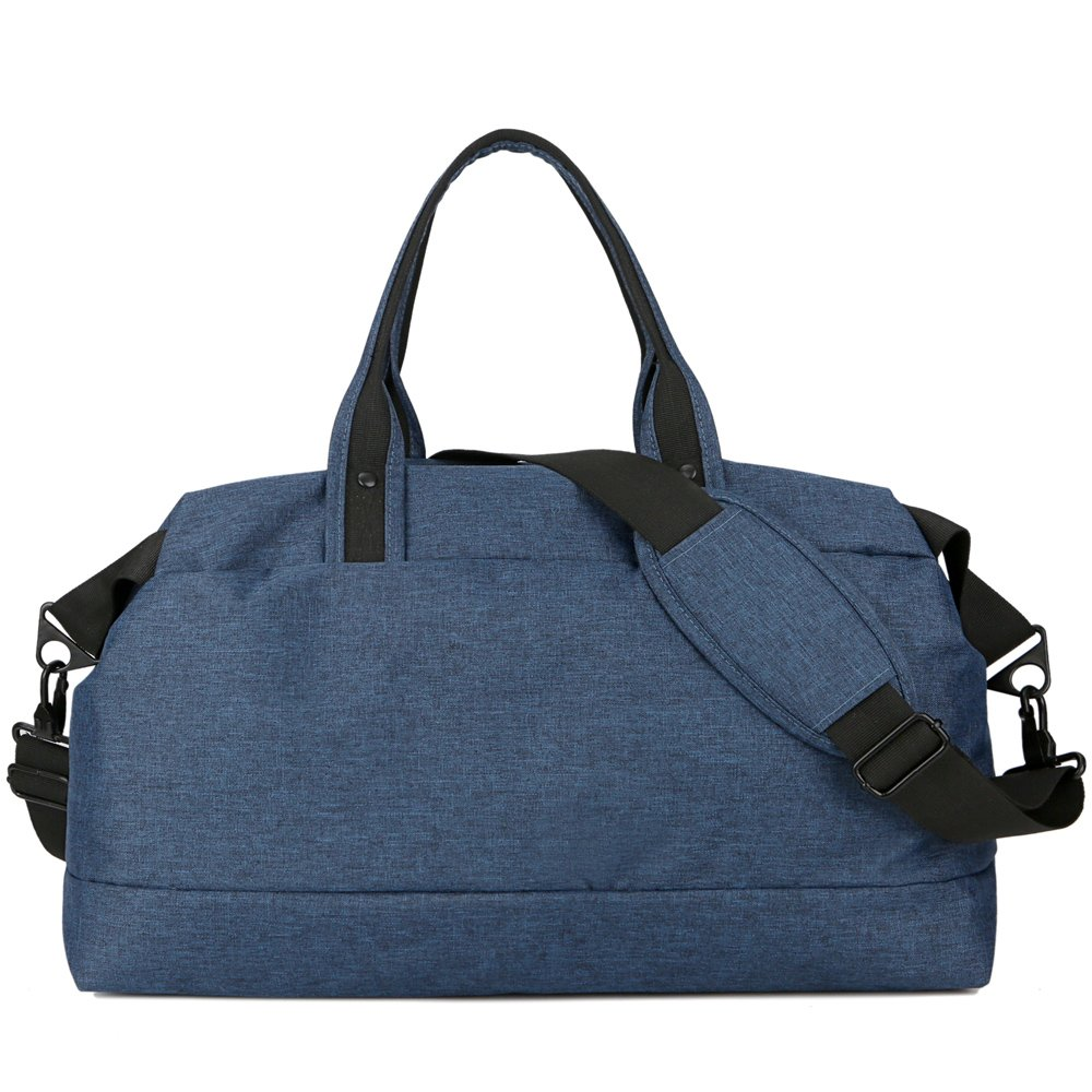 OCCIENTEC Water Resistant Carry on Travel Duffel Bag and Light Weight Gym Sports Bag with Shoes Compartment-35L-blue