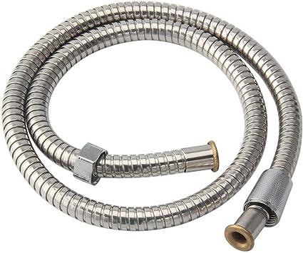 Kutera Flessibile doccia in acciaio inox soffione bagno soffione flessibile universale antirotazione G1 2 flessibile flessibile antideflagrante cromato 80 cm