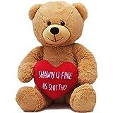 Hollabears Extra Large Shawty U Fine As Shit THO Teddy Bear - Funny and Cute for Girlfriend, Boyfriend or Best Friends