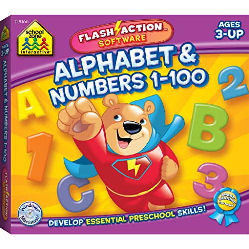 Alphabet & Numbers 1-100 Flash Action Software 100 Flash Action Software