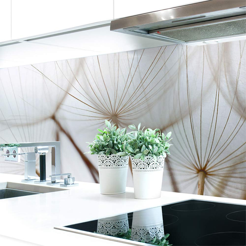 Küchenrückwand Löwenzahn Braun Premium Hart-PVC 0,4 0,4 0,4 mm selbstklebend - Direkt auf die Fliesen, Größe 280 x 60 cm B07N8FHHQ2 Wandtattoos & Wandbilder 07ba95