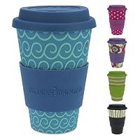 ebos Fortuna caffè-a-Go Tazze di bambù | Tazze di caffè, Tazze di Bevanda | degradabili nell'ambiente, riciclabile, Ecologico | Cibo Sicuro, Lavabile in lavastoviglie
