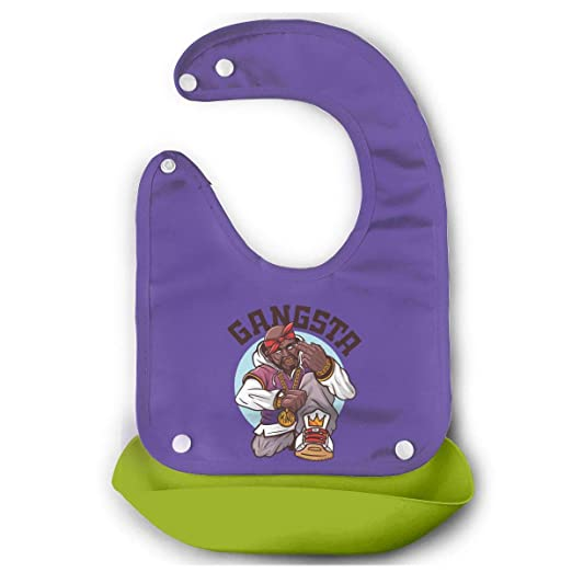 Amazon.com: Kalongna SWAG Rapper With Gold Chain. Bib Mouth Towel For Babies Green 48: Clothing