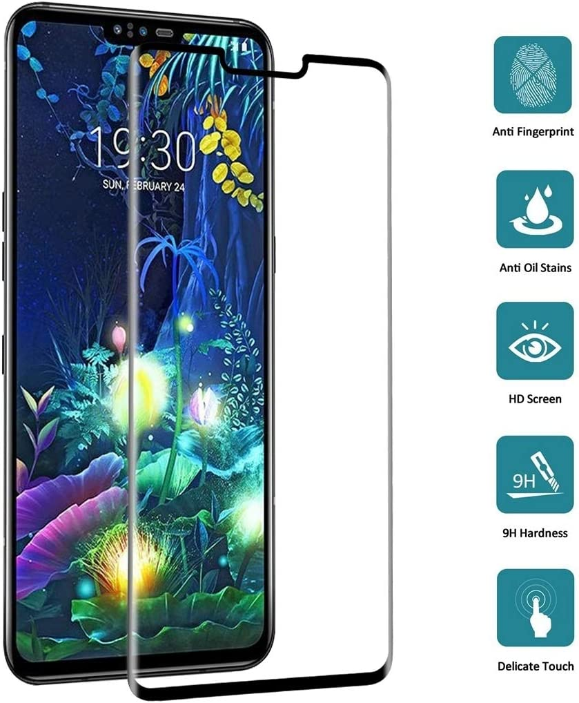 JIN Screen Film 25 PCS 9H 3D Full Screen Tempered Glass Film for LG V50 ThinQ 5G