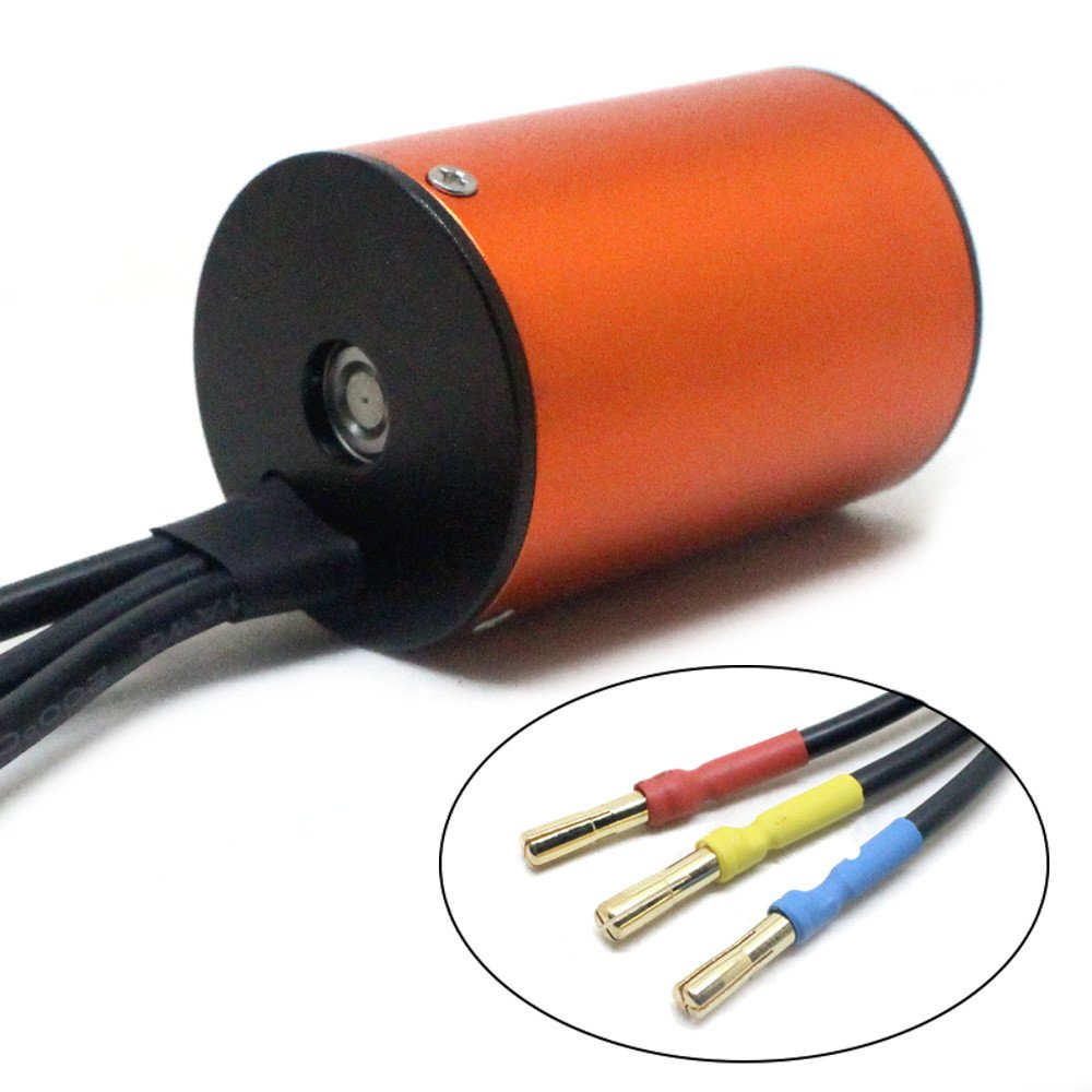 for 1/10 RC Car W9M5 Waterproof 3650 4300KV 4 Pole 12 Slot High-Torque Brushless Motor W/ 60A ESC Combo Set - Shipped from USA (A) by Hisoul (Image #4)