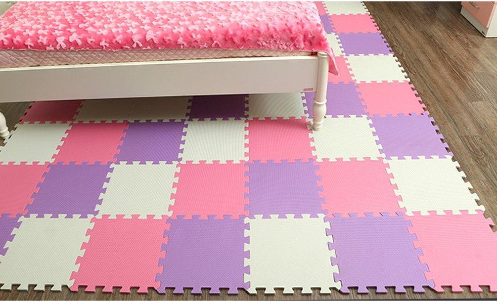Amazon Menu Life 10 Tile Purple White Pink Exercise Mat Soft