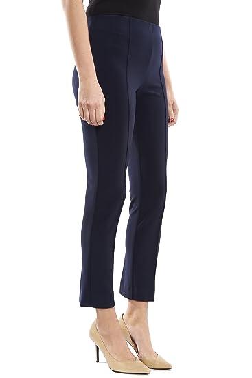 a330a8124d7233 Joseph Ribkoff Midnight Blue Silky Knit Stretch Pant Style 182108 - Size 12