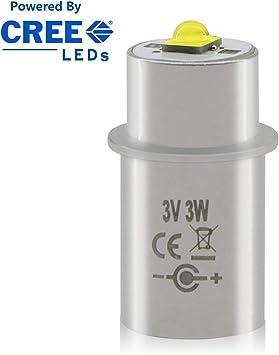 Maglite 2-Cell AA Xenon Flashlight Bulb Bi-Pin Base