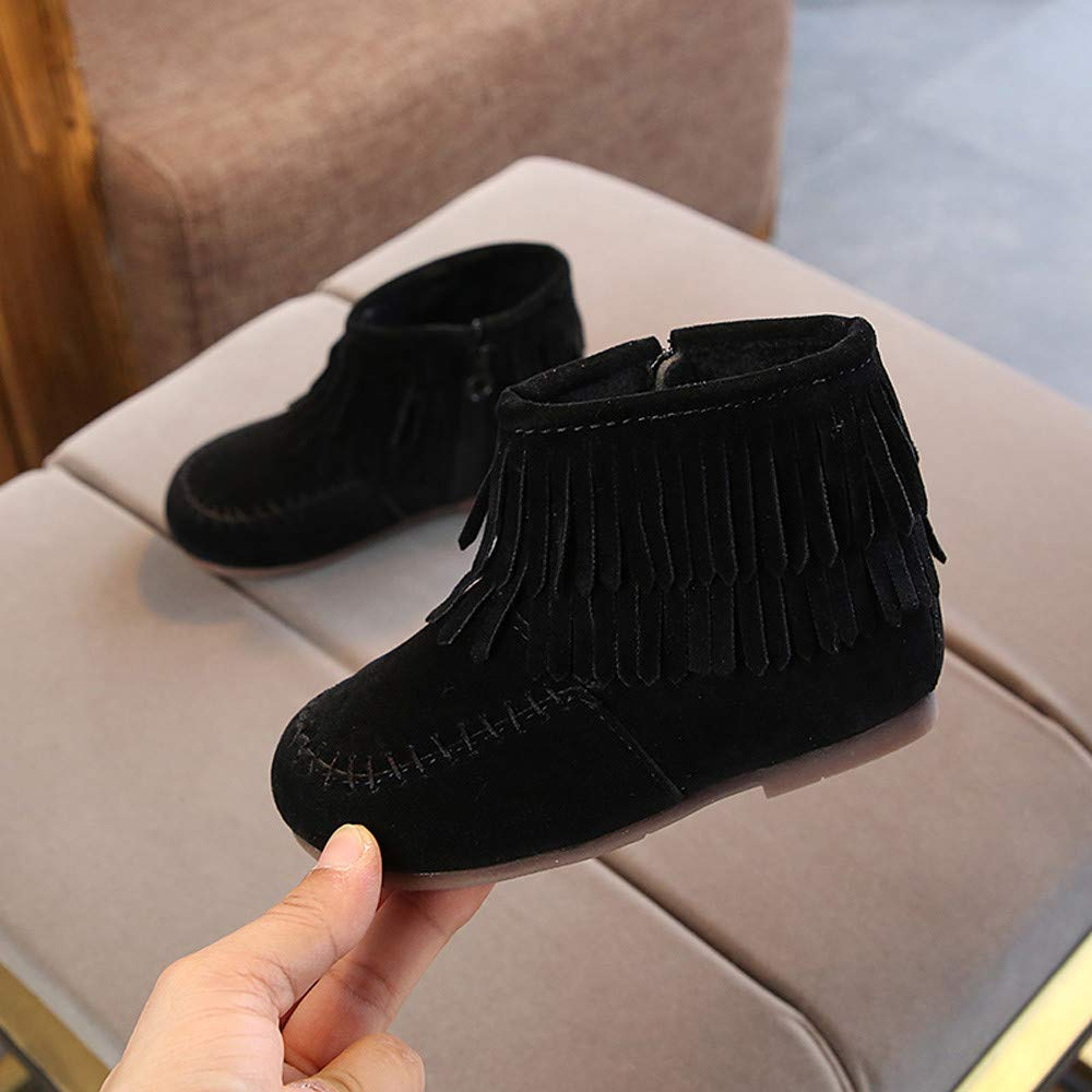 Amazon.com: Lurryly❤Baby Warm Winter Martin Boot Fringe Tassel Snow Boots Shoes(Toddler/Little Kid): Clothing