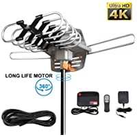 Musun 150 Mile Range 4K Ultra HD Amplified Digital Outdoor Antenna for UHF/VHF Channels