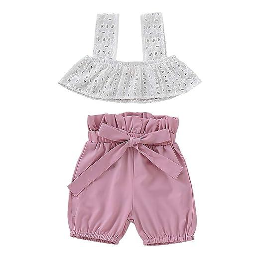 WARMSHOP Outfit Sets for 0-5T Kids Boys Black Letter Print Sleeveless Vest Tops+Leaf Printing Pants