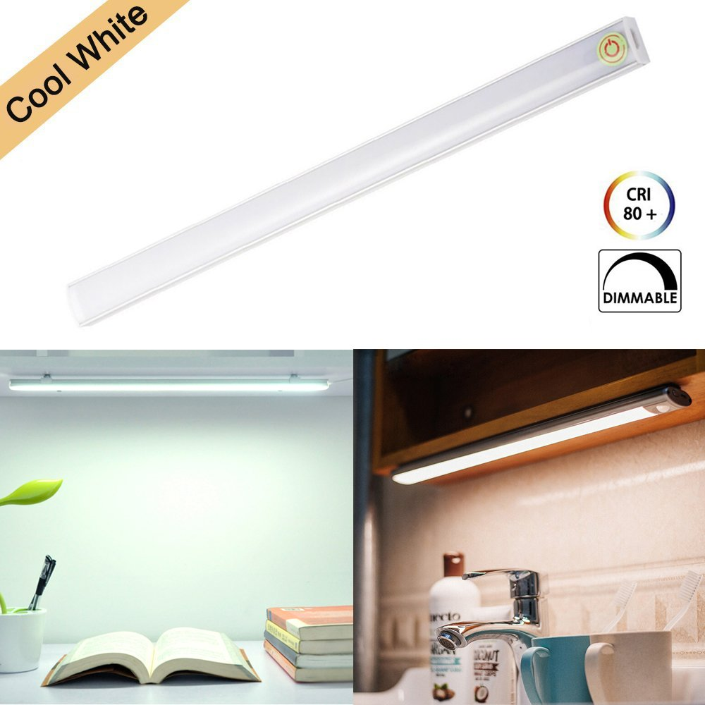Under Cabinet LED Light Bar Touch Design LED Light Tube 30CM USB Powered Wardrobe Light Strip Dimmable Lighting Lamp Warm White for Closet Cupboard Cabine Kitchent Closet Hallway Cool White ZBLighting