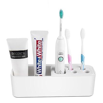 iDelta Soporte para cepillo de dientes, soporte para pasta ...