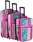 Patchwork 3 Piece Luggage Set, Bags Central