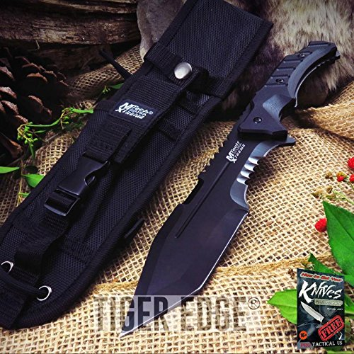 FIXED BLADE TACTICAL Elite Knife Mtech Black Survival Full Tang Zombie Combat MX-8144 + free eBook by ProTactical'US (Mx Handle Blade Black G10)