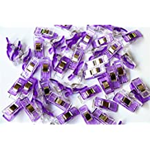CADY Wonder Clips, Paper Clips, Blinder Clips, Multi-purpose Clips, 100pcs, Purple