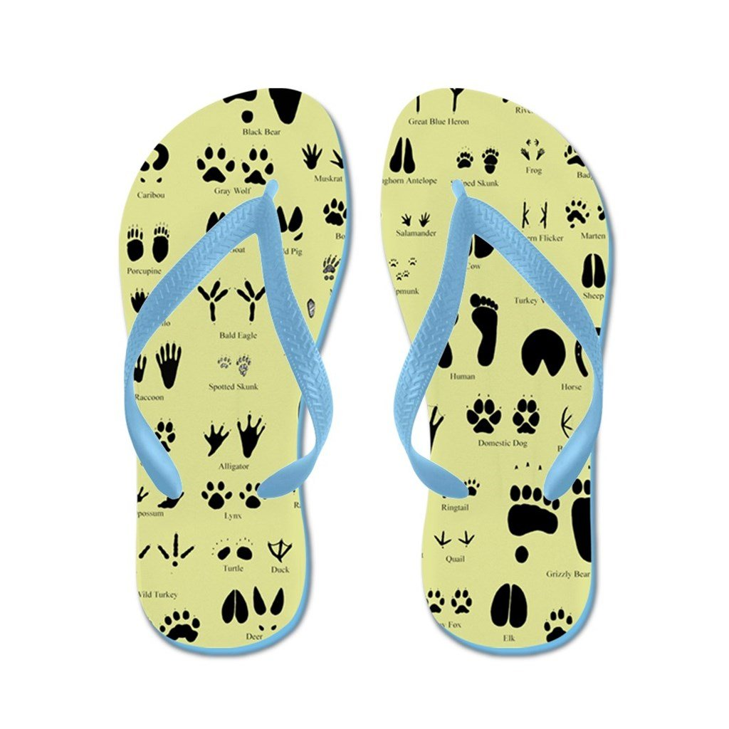Lplpol Small Animal Tracks Poster Flip Flops for Kids and Adult Unisex Beach Sandals Pool Shoes Party Slippers
