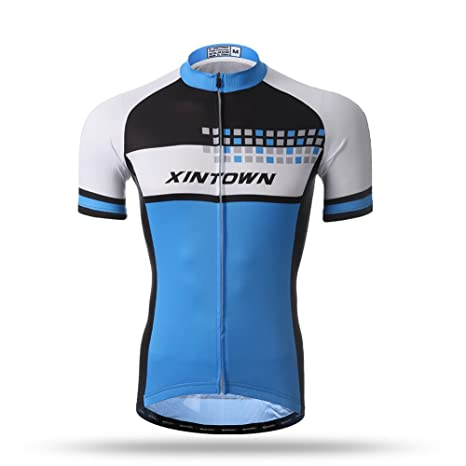 9689e3e57 Xintow Mens Cycling Jerseys Silicon 3d Padded Short Sleeve Bicycle  Skinsuits Shirt Summer Cycle Racing Clothes