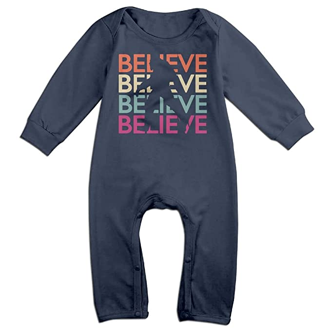 Mri-le1 Baby Boy Coverall Believe Bigfoot-2 Toddler Jumpsuit