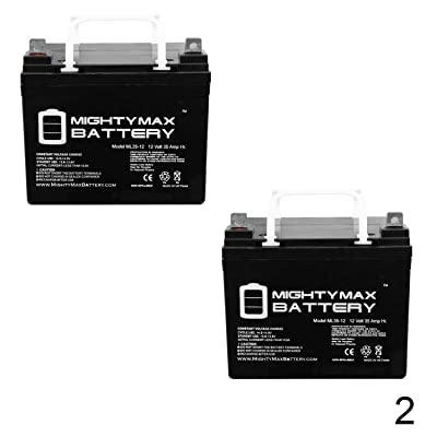 Mighty Max Battery 12V 35AH Wheelchair Scooter Battery Replaces Tempest TR35-12 - 2 Pack Brand Product : Sports & Outdoors