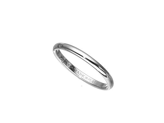 Amazon classic fit platinum plain wedding band 2mm jewelry junglespirit Gallery