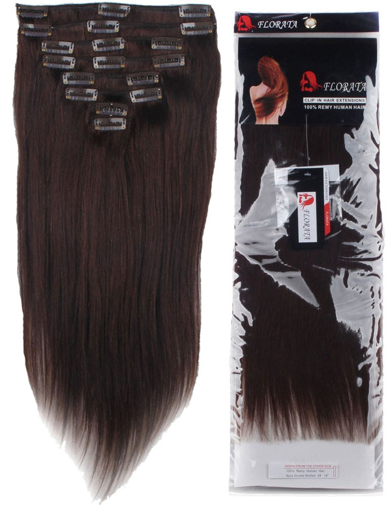 Lelinta 18'' 8Pcs 100% Remy Real Human Single Thick Weft Hair Straight Extension by Lelinta (Image #3)