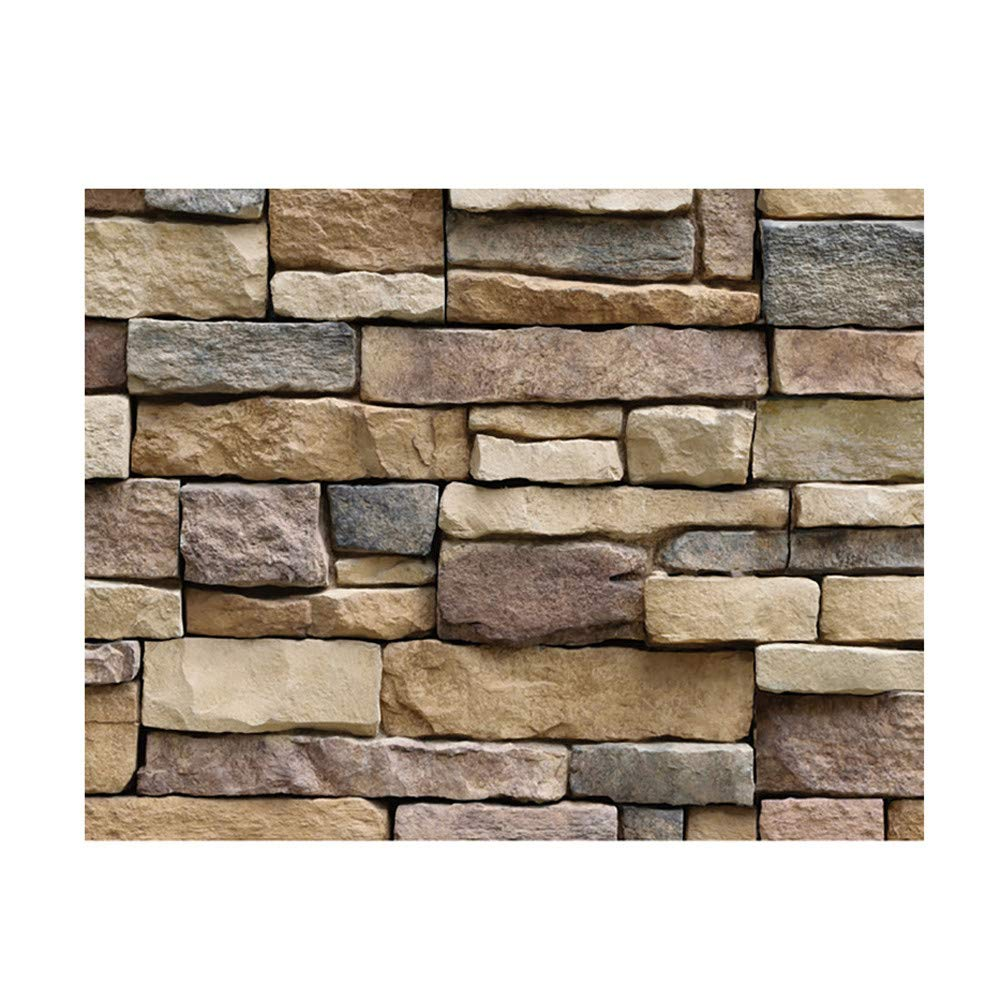 - Amazon.com: 3D Brick Stone Self Adhesive Wallpaper- PVC Wall Tile