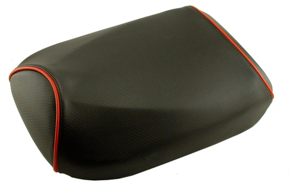 Honda Ruckus Seat COVER Black Carbon Fiber with Piping Seat Cover (Red Piping) by Cheeky Seats